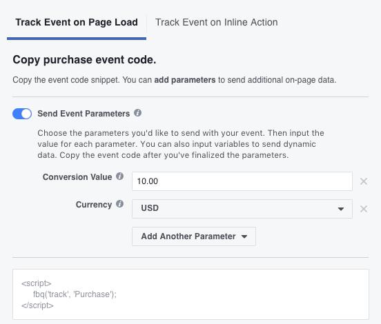 Facebook Pixel Add Event Parameters
