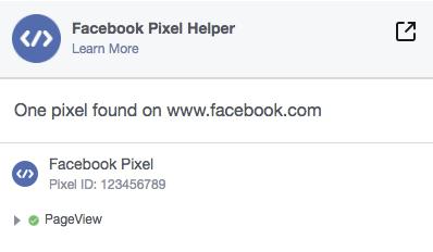 Facebook Pixel Check that your Pixel Working