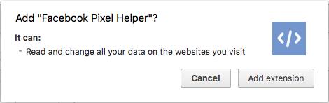 Facebook Pixel Helper Chrome Plugin Install
