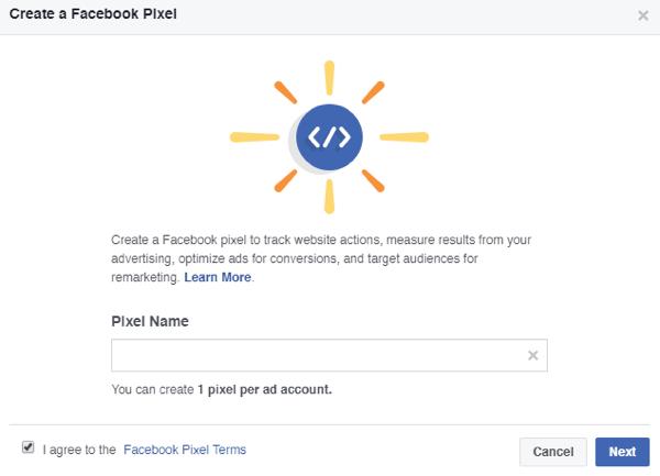 Facebook Pixel Name
