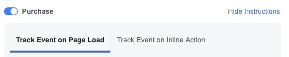 Facebook Pixel Track Event on Page Load or Track Event on Inline Action