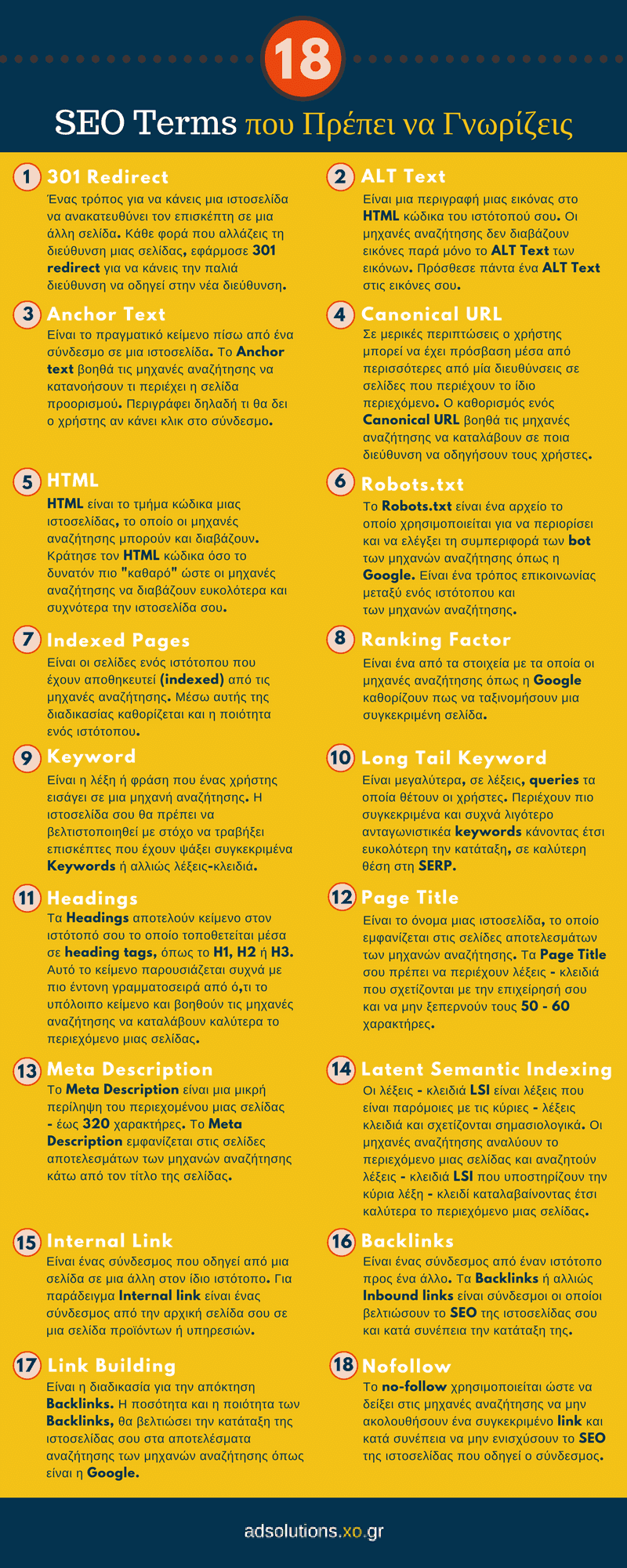 18 SEO Terms που Πρέπει να Γνωρίζεις [Infographic]