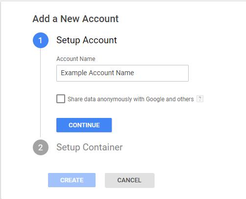 diadikasia dimiourgeias logargiasmou ston Google tag manager